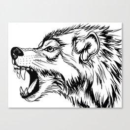 Fierce Wolf Canvas Print