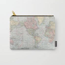 Vintage World Map (1901) Carry-All Pouch