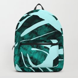Watercolor exotic tropical pattern Backpack