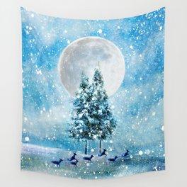 Winter Night 4 Wall Tapestry