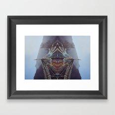 Flag Mountain Framed Art Print