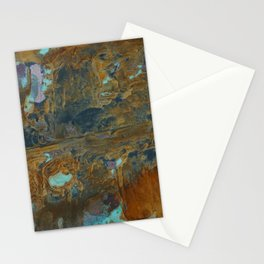 Blue Lagoons in Rusty World Stationery Cards