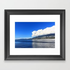 Blue vs. White Framed Art Print
