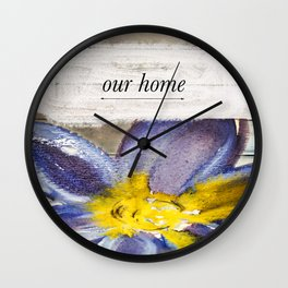 Our Home Wall Clock
