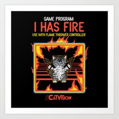 I Has Fire Art Print
