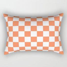Checker (Coral/White) Rectangular Pillow