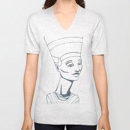 Nefertiti Sketch Unisex V-Neck