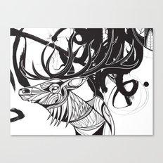 Elk black Canvas Print