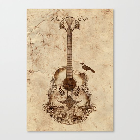 The Guitar's Song Canvas Print