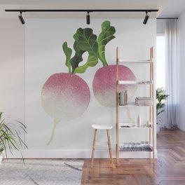 Turnip Illustration Wall Mural