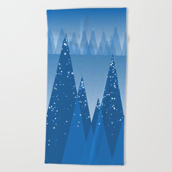 Blue Winter Design ! Beach Towel