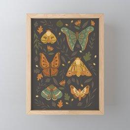 Autumn Moths Framed Mini Art Print