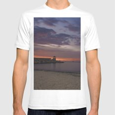 Front Beach After sunset MEDIUM White Mens Fitted Tee
