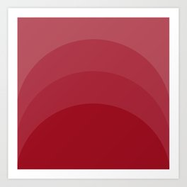 Four Shades of Red Curved Art Print