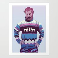90s Art Prints featuring 80/90s - Trmd by Mike Wrobel