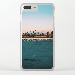 Summer Sunset VI Clear iPhone Case