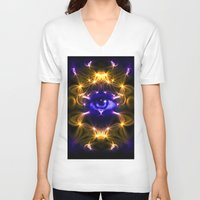 all seeing eye V-neck T-shirts featuring All seeing eye by Cozmic Photos