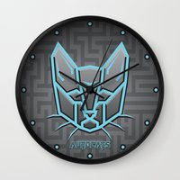 transformer Wall Clocks featuring Autocats Transformers by Enrique Valles