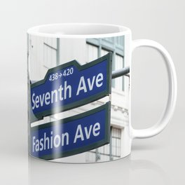 Road signs in Midtown of New York Coffee Mug