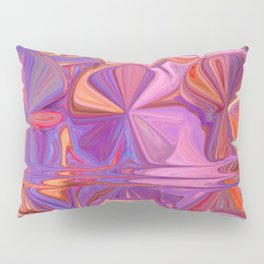 Abstract Candy in Pink, Purple, Orange Pillow Sham