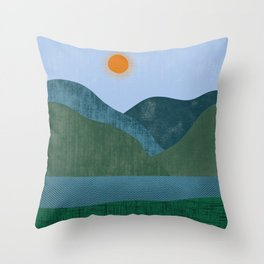 Mountain River #2 Throw Pillow