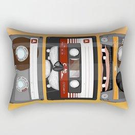 The cassette tape Rectangular Pillow