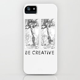 BE CREATIVE - Funny Dachshund Dog Illustration iPhone Case