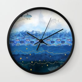 Sky Fish - Warming Oceans and Sea Level Rising Wall Clock
