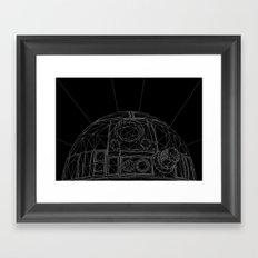 R2-SP4C3-R0B0T-D2 Framed Art Print