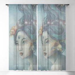 Zodiac Pisces Sheer Curtain