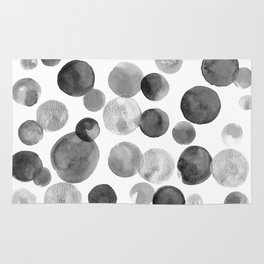 Black and Silver Bubbles Rug