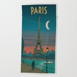 Vintage poster - Paris Beach Towel