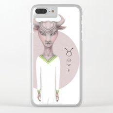 taurus astro portrait Clear iPhone Case