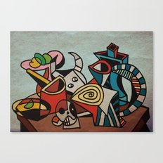 Still Life in Cubism Canvas Print