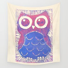 Wide Eyed Owl Wall Tapestry