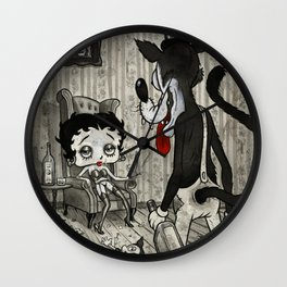 BETTY AND THE WOLF Wall Clock