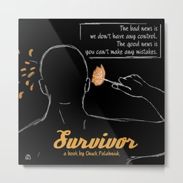 Survivor, a book by Chuck Palahniuk Metal Print