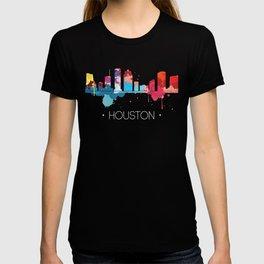 Houston Cityscape Watercolor T-shirt