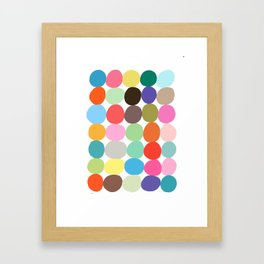 Big Bright Spots Framed Art Print