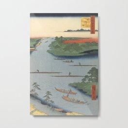 Summer River Mouth Ukiyo-e Japanese Art Metal Print