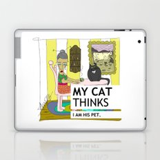 My cat thinks I am his pet Laptop & iPad Skin