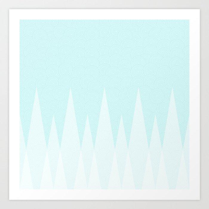 Light Teal Triangles Art Print
