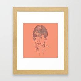 Funny Girl Framed Art Print