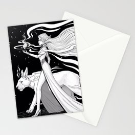 Magic Fire Stationery Cards