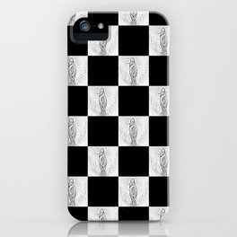 Checkerboard Pussy iPhone Case