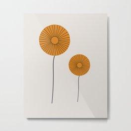 Flower Pair Metal Print