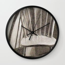 Chair Study With Light Wall Clock