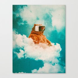 Living On The Cloud Canvas Print