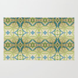 Blue Green Abstract Rug