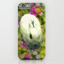 Lapin et de Fleurs iPhone Case